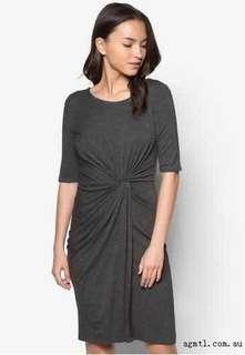 Authentic Dorothy Perkins Petite Grey Side Twist Dress
