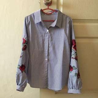 Blue Stripes Long Sleeves Shirt