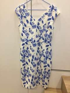 BN blue floral dress