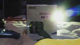 Meike 35mm APS- C F1.7 for fujifilm mirrorles (resmi) free uv filter
