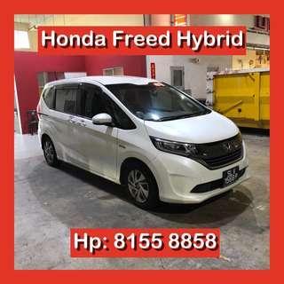 Honda Freed Hybrid MPV Grab Car Go Jek Rental