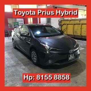 Toyota Prius Hybrid Grab Car Go Jek Rental