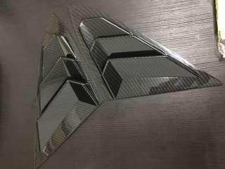 Honda Civic 10th gen Carbon window louver cover