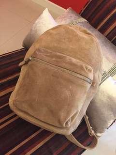 BAGGU All Leather Backpack