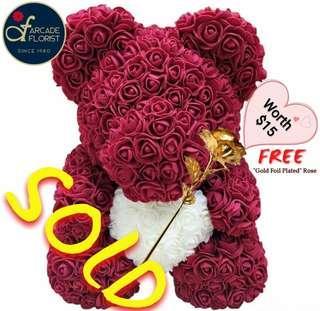 40cm Immortal Eternal Soft Synthetic Faux Roses Teddy | Rose Flower | Flower Bouquet | Flower | Flowers | Soap Flower | Rose | Roses | Valentine's Day