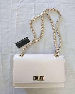 Forever New Chain Strap Pink Bag