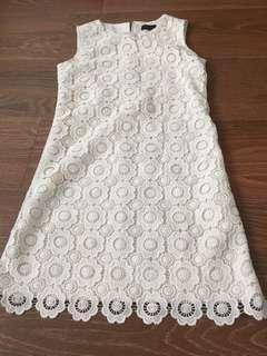2 for $12 White crochet dress size s