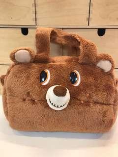 小熊絨毛提袋