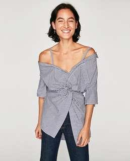 Zara Knotted Shirt with Straps