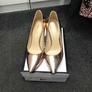 Nine West Tatiana rose gold heels