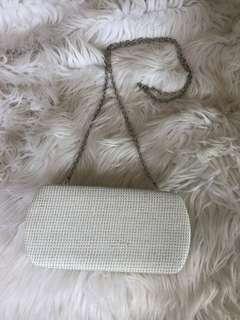 White Colette Clutch