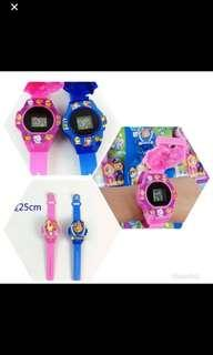 🚚 Instock Paw Patrol kids watch brand new size suitable for 4yrs above w lights