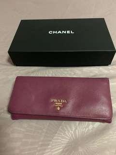 CNY sale -Prada Saffiano Long Wallet (Multicompartment)
