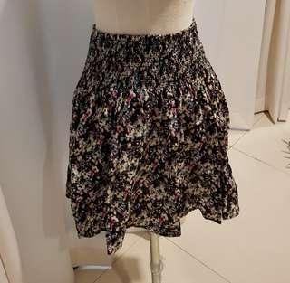 H&M Floral garter skirt