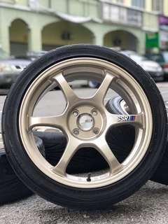 ssr type c-rs 17 inch sports rim vios tyre 70%