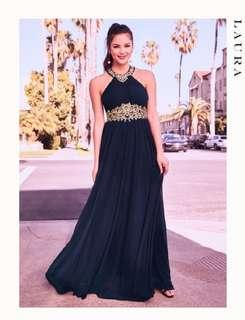💎Size 2 LAURA Dark Blue PROM DRESS🥂