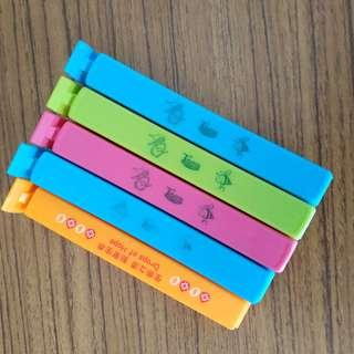 (凡購物免費送出)廚房食物袋夾,5件 (Free gift for any purchase) Clip for bag, 5 pcs