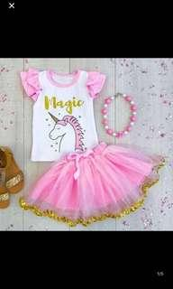 🚚 PO unicorn party/event dress brand new size 90-120cm