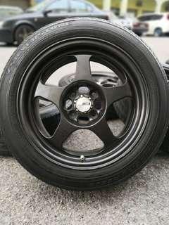 regamaster 15 inch sports rim saga flx tyre 70%