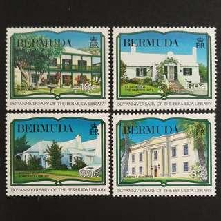 🚚 Bermuda 1989. The 150th Anniversary of Bermuda Library complete stamp set