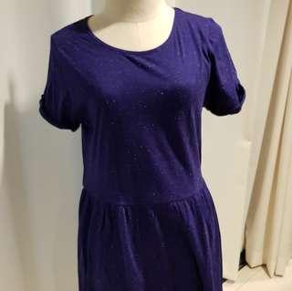 Topshop blue violet cotton dress