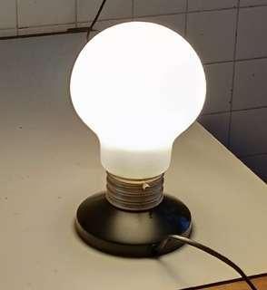 Table Lamp bedside frosted glass light bulb lightbulb osram switch