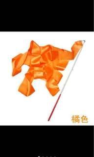 橘色彩帶 不附棍子 台中可面交 彩帶舞 韻律體操 舞蹈 表演 道具 銅板價