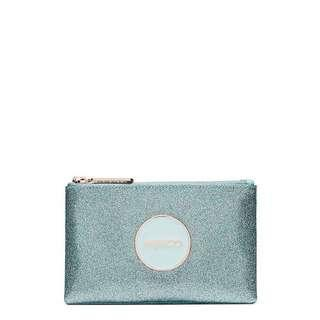 Mimco Shimmer Small Pouch Seafoam