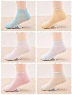 🚚 ✔️ 6 pairs Set  🌟PM for price🌟 🍀Baby Girl Kids Breathable Cotton Socks🍀