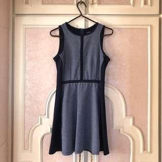 ZALORA - Something Borrowed Navy Blue Flare Dress