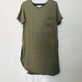 Long Tee Olive Green