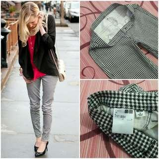 UNIQLO Houndstooth Legging Pants (Black Houndstooth M)