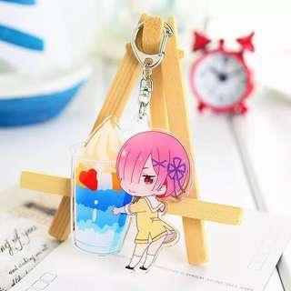 🚚 Anime re zero key chain