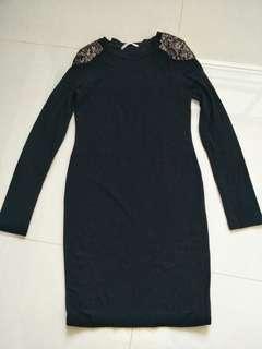 🚚 Black Dress in galaxy style