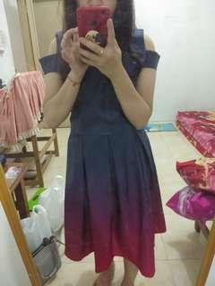 Dress pesta warna omblee