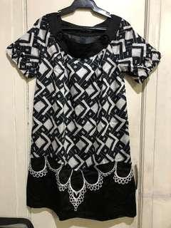 BYSI black printed dress