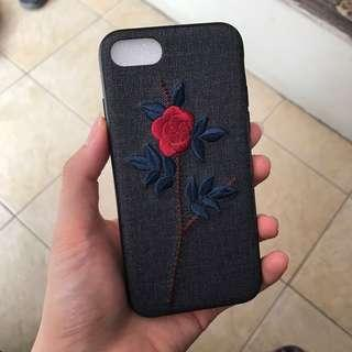 Rose Embroidered Case for Iphone 7