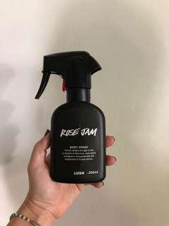 Lush Rose Jam Body Spray - used less than 3 times