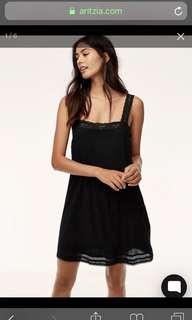 Aritzia Leone Dress in Black Size Small