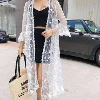 bikini outer dress pantai luaran bikini wanita cardigan murah cover up - ALLSIZE