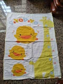🚚 (二手)黃色小鴨紗布浴巾