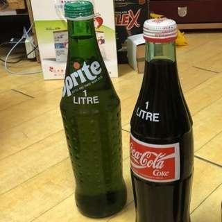香港雪碧一公升原水 完美 coca cola Sprite