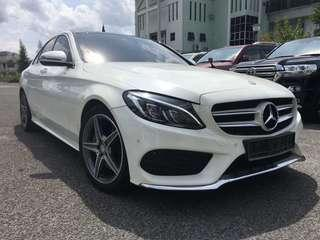USED MERCEDES BENZ C250 W205 FOR SALE !!! LOCAL BRAND NEW CAR !! FULL SPEC BURMESTER SOUND SYSTEM, SUNROOF , POWER BOOT !!! YEAR 2015 CAREFUL OWNER WITH EXCELLENT CONDITION !!