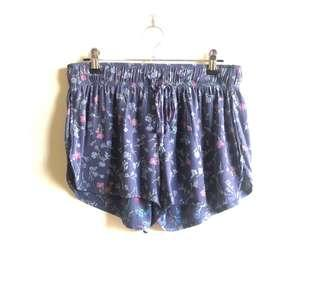 Rails (Anthropologie) floral drawstring shorts