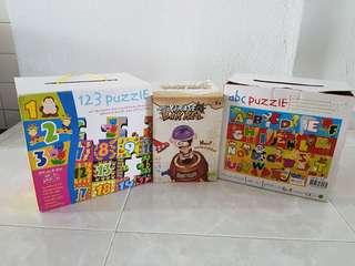 🚚 Selling used baby toy puzzle & toy pirate barrel