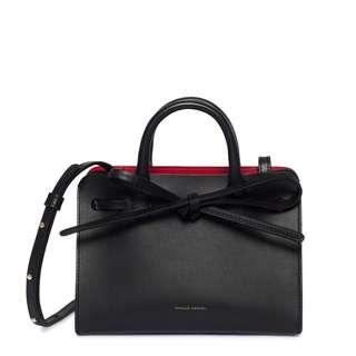 BNWT Mansur Gavriel Mini Mini Sun bag in black (flamma interior)