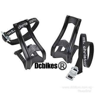 🆕! Zefal Universal Bicycle Toe Clips + Pedal Strap Set #Dcbikes Road Fixie MTB