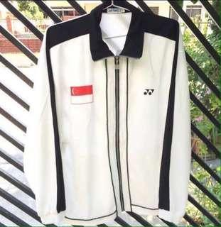 Vintage 90's Singapore Home National Team Yonex Sports Trainer Jacket 3M Reflective details
