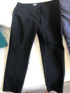 Black corporate pants - H&M size 14