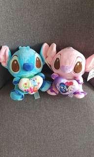 Stitch Valentine's Day plushies (HK Disney's original)